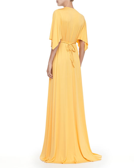 Jersey Long Caftan Dress, Women's
