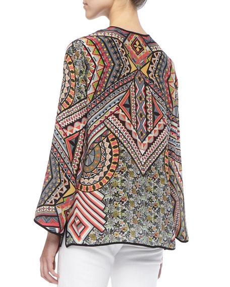 Lolita Silk Printed Tunic, Women's