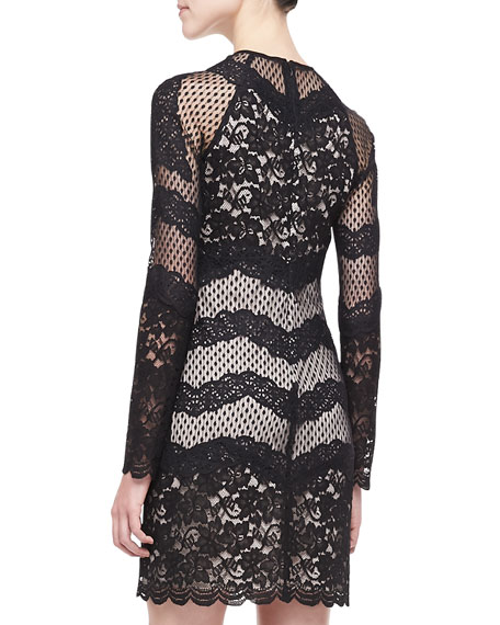 Violet Long-Sleeve Lace Dress