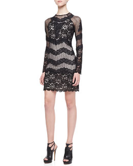 Diane von Furstenberg Violet Long-Sleeve Lace Dress