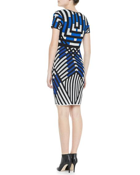 Lorraine Short-Sleeve Patterned Dress