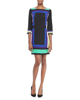 Diane von Furstenberg Avery Geometric Pattern Dress