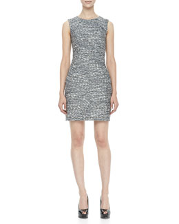 Diane von Furstenberg Capreena Sleeveless Tweed Mini Dress