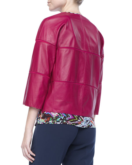 Liv Leather Paneled Jacket