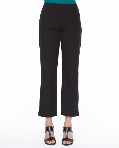 Eileen Fisher Organic Stretch Twill Slim Ankle Pants, Women's