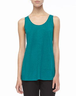 Eileen Fisher Long Organic Linen-Jersey Tank, Women's