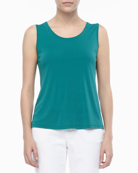 Stretch Silk Jersey Tank, Women's