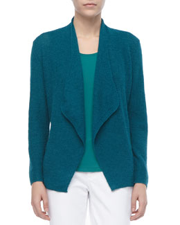 Eileen Fisher Colorblock Alpaca Cardigan, Petite