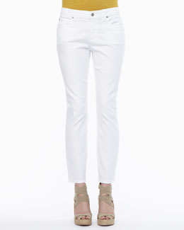 Eileen Fisher Organic-Cotton Stretch Skinny Ankle Jeans, Petite