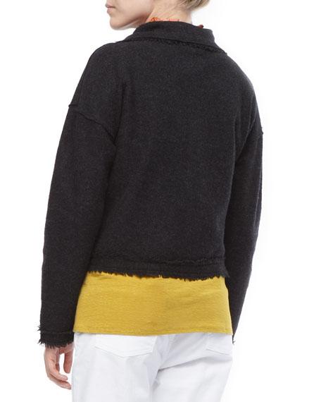 Boiled Wool Short Jacket, Petite