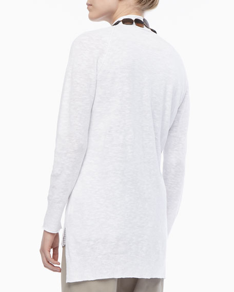 Versatile Linen Knit Cardigan