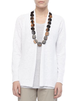 Eileen Fisher High-Low Slub Cardigan, Women's