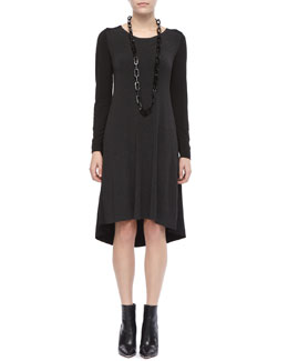 Eileen Fisher Comfortable A-Line Jersey Dress, Petite