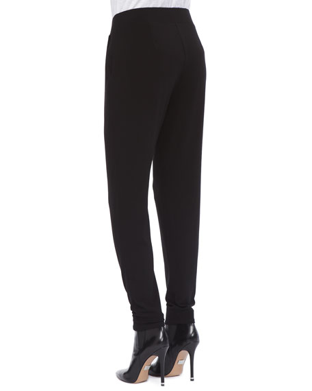 Jersey Slouchy-Fit Pants, Petite