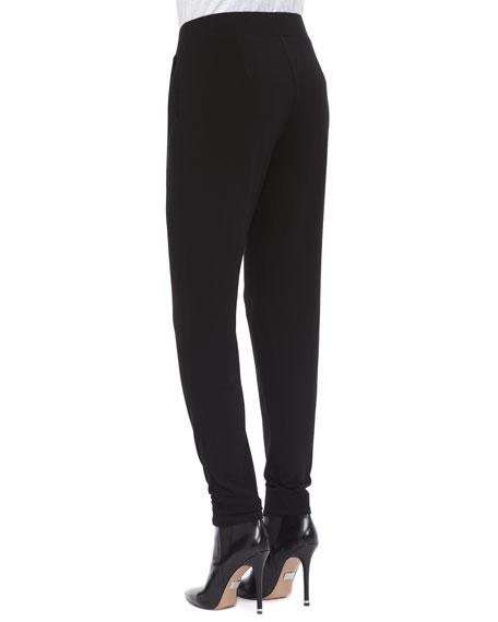 Jersey Slouchy-Fit Pants, Petite