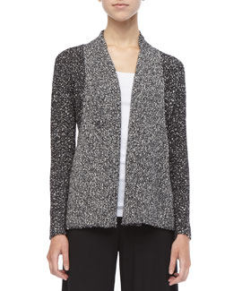 Eileen Fisher Versatile Nubby-Cotton Cardigan, Petite