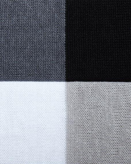 Striped Linen Long-Sleeve Top, Petite