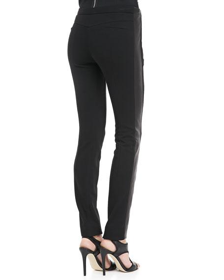 Leah Leather-Panel Leggings