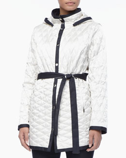 Marina Rinaldi Genova Two-Tone Quilted Jacket, Women's