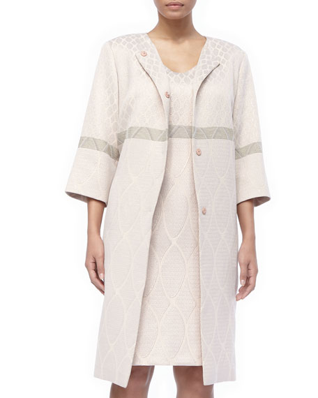 3/4-Sleeve Deco Torta Coat, Women's