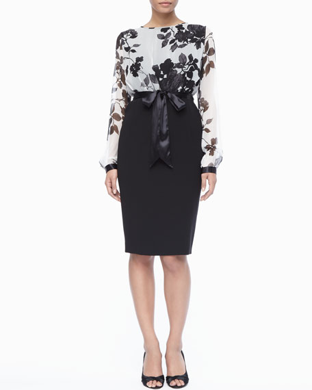 Floral Colorblock Dress, Women's