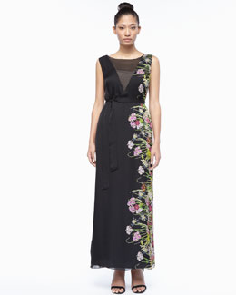 Marina Rinaldi Desire Floral-Side Maxi Dress, Women's