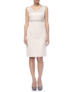 Marina Rinaldi Detachable Sleeve Deco Dress, Women's