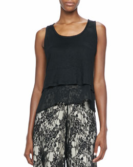Alice + Olivia Double-Layer Sleeveless Top