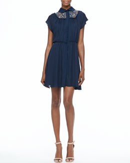 Alice + Olivia Emma Lace-Inset Dress