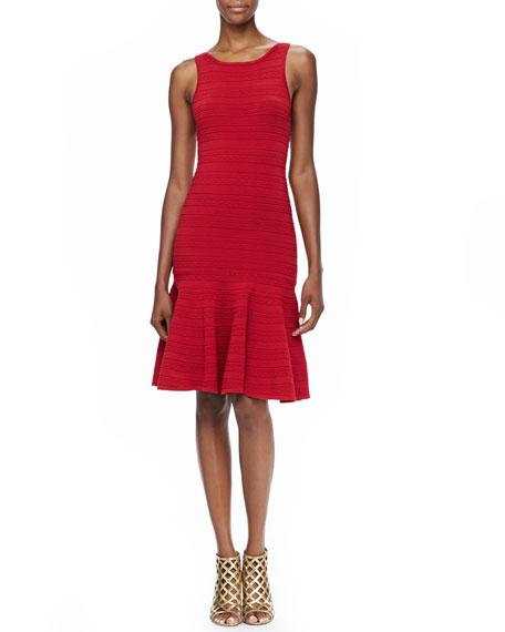 Lucky Fitted Drop-Skirt Dress