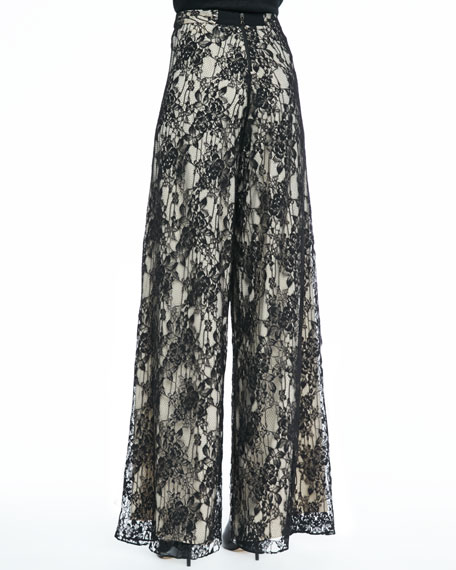 Super-Flare Lace Pants