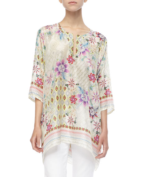 Silk Loose-Fit Tunic