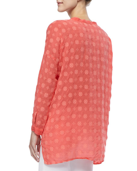 Printed Rayon Relaxed-Fit Tunic