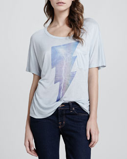 Love, Simdog Lightning-Strike Pocket Tee
