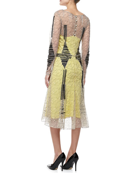 Long-Sleeve Cocktail Dress