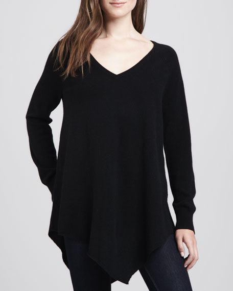 Shatoria Asymmetric-Hem Sweater