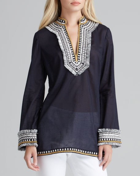 Tory Embroidered Voile Tunic