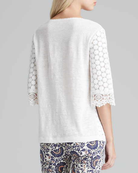 Elie Dot-Lace Top