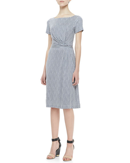Edna Draped Silk Dress