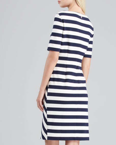 Augusta Fitted Striped Dress