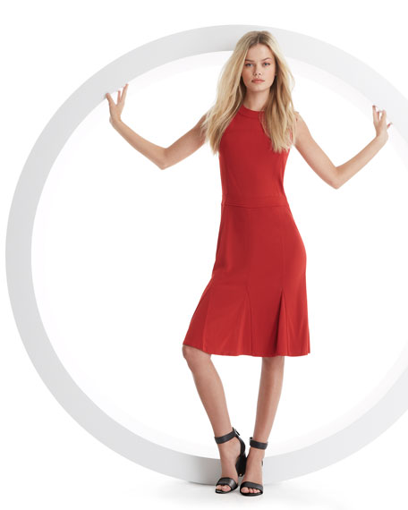 Deeann Fluted-Hem Dress