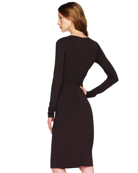Buckled Wrap Dress