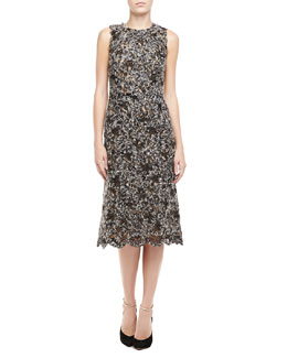 Michael Kors Sleeveless Mohair Lace Dress