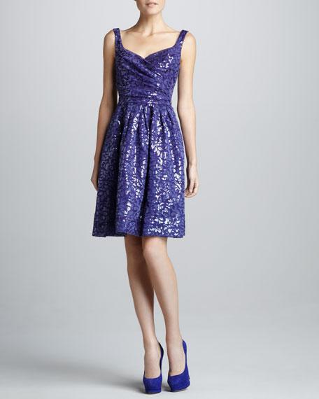 Sequin-Jacquard Cocktail Dress