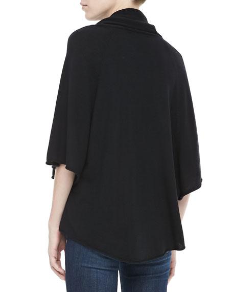 Celia Cowl-Neck Sweater, Caviar