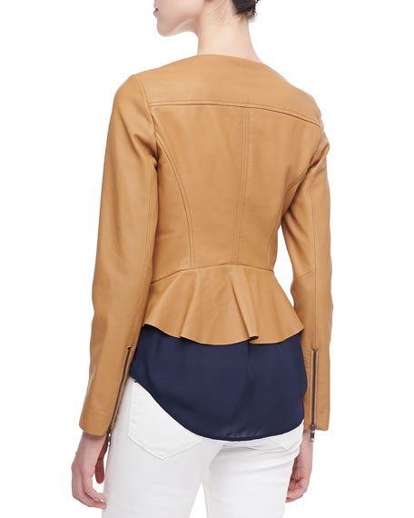 Emelyn Short Leather Jacket