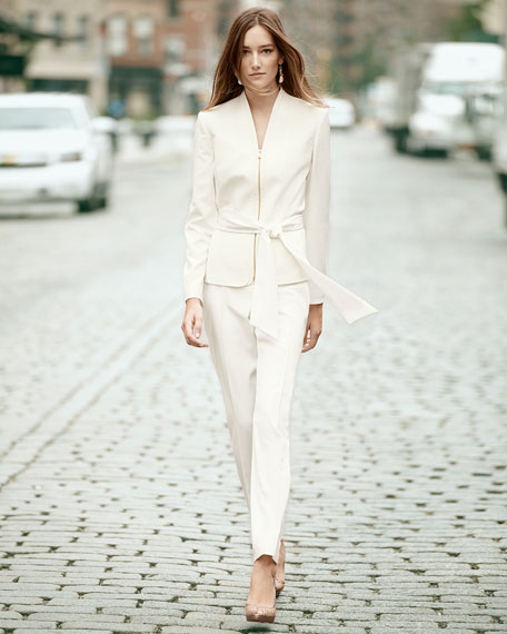 Crepe Two-Piece Suit