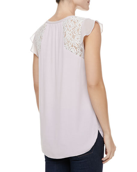 Crepe & Lace Tee