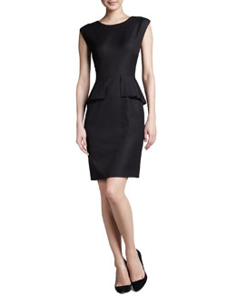T Tahari Myra Peplum Dress
