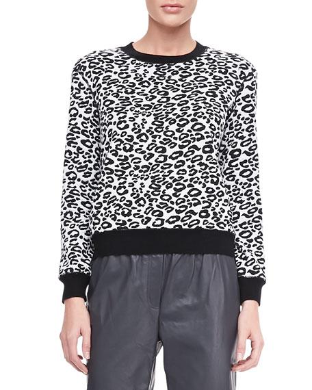 Leopard-Print Sweatshirt